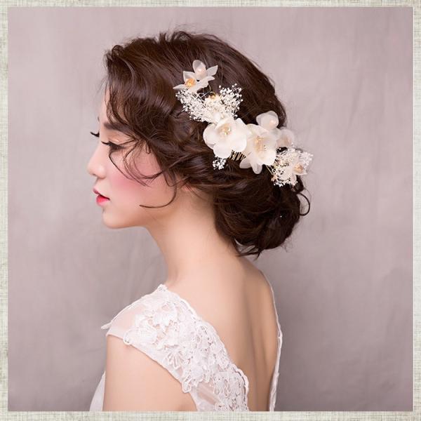3点セット お嫁さん 髪飾り かんざし 花嫁 レディース ヘアアクセサリー  ウェディング 結婚式 髪留め ヘッドアクセ 結婚式 入学式 sanwafashion 04