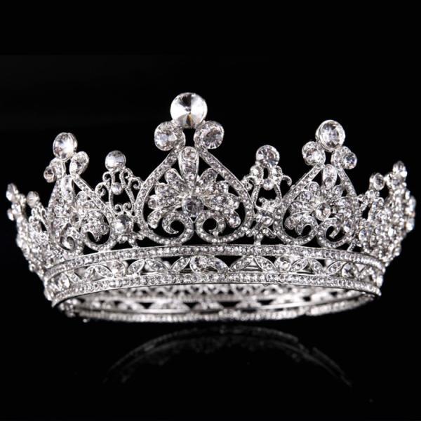 お嫁さん お姫様 ティアラ 王冠 髪飾り クラウン 花嫁 レディース ヘアアクセサリー  ウェディング 結婚式 髪留め ヘッドアクセ|sanwafashion