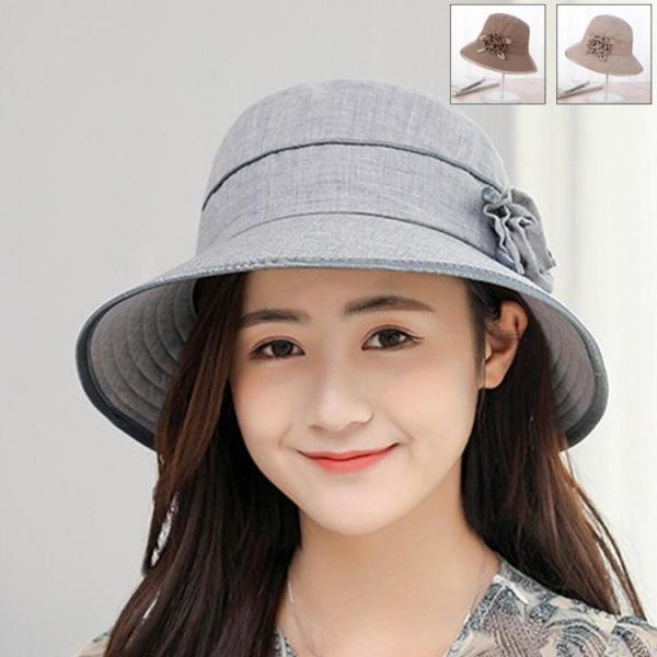 969f469a06e3f 春夏 帽子 レディース キャップ ハット サマー バケットハット 折りたたみ可能 花 合わせやすい 紫外線対策 ...