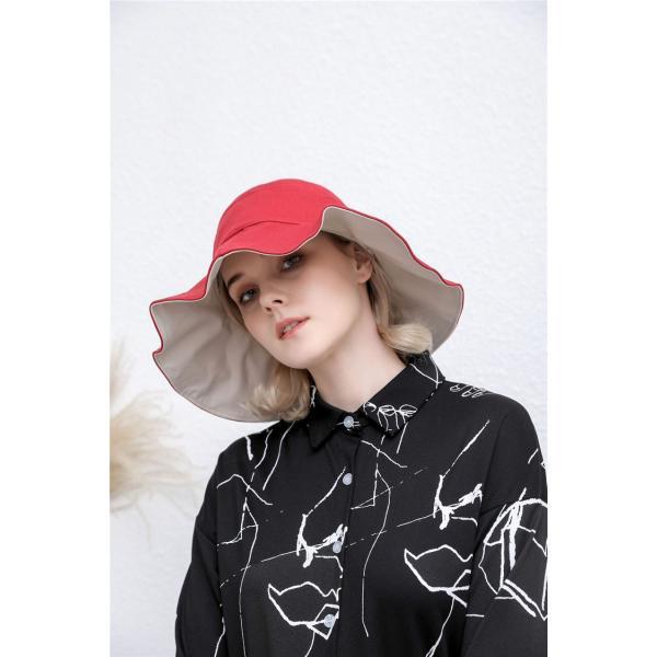 帽子 レディース 春夏 レディースキャップ ハット アウトドア 通気性良い  リゾート ビーチ ワイドハット UV カット 日よけ シンプル 軽い|sanwafashion|04