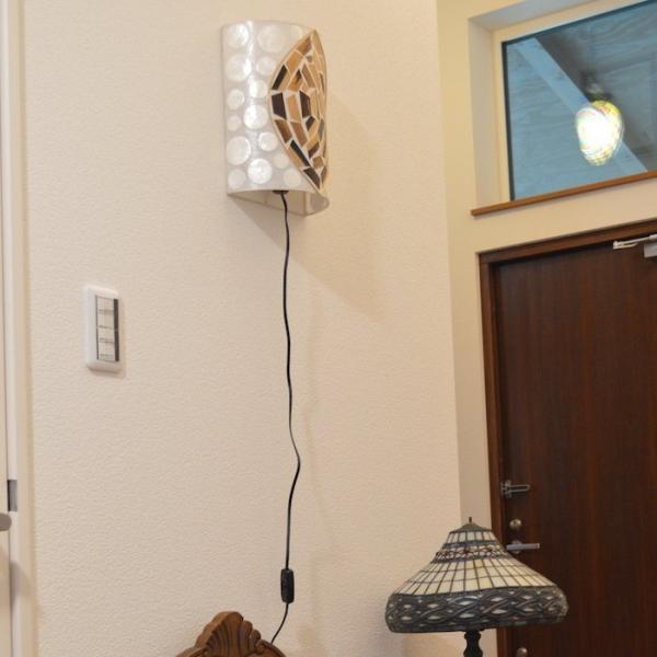ブラケットライト セミサークル モチーフA ムードライト 寝室照明 間接照明 照明 リビング 玄関 アジアンテイスト 送料無料|sanwapotitto|04