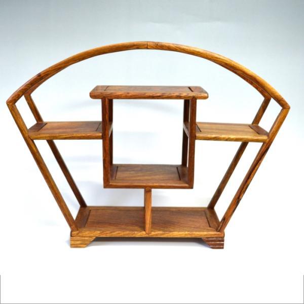 珍品棚 飾り棚 小棚 木製 シェルフ 収納ラック 茶器 花器 オブジェ ニッチ ア ンティーク風 中国風 インテリア ディスプレイ 送料無料|sanwapotitto|05