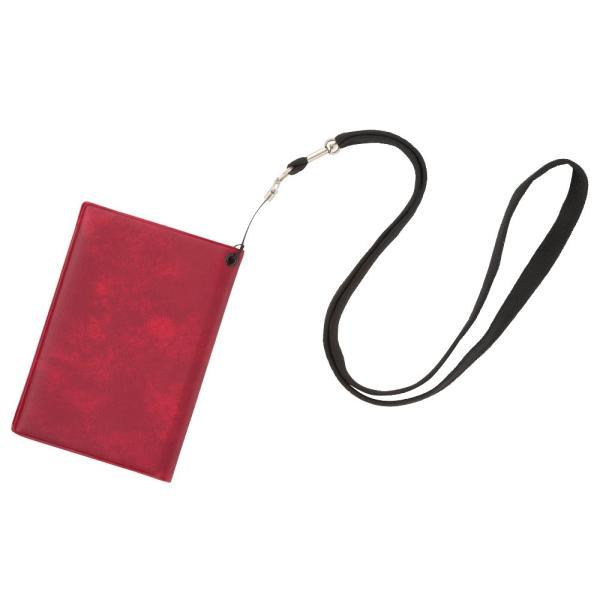 [5400円以上で送料無料] 旅行用品 | スキミング防止パスポートカバー ネックストラップ付き レッド【T52122】