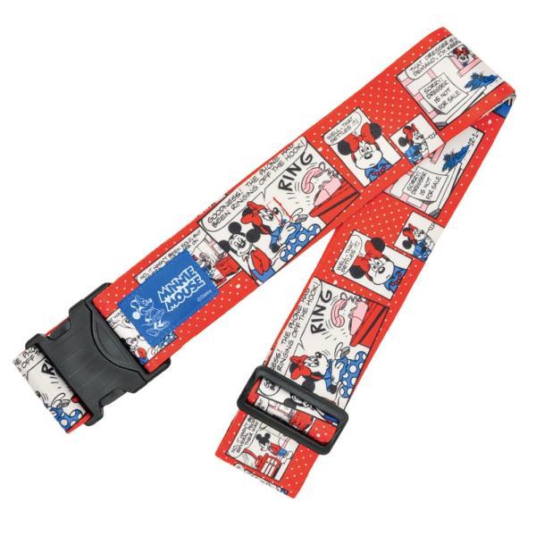 [5400円以上で送料無料] 旅行用品 | ディズニー ワンタッチスーツケースベルト ミニーマウス 赤 【T52022】