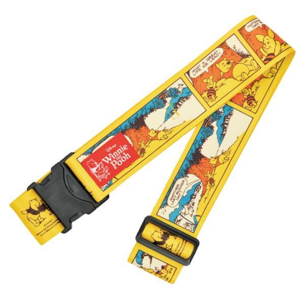 [5400円以上で送料無料] 旅行用品 | ディズニー ワンタッチスーツケースベルト プーさん 黄 【T52023】