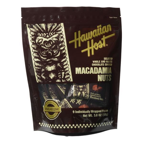 ハワイ ハワイアンホースト マカデミアナッツチョコレート 1ピースTIKI スタンドアップバッグ 9粒入り【880442】[5400円以上で送料無料]