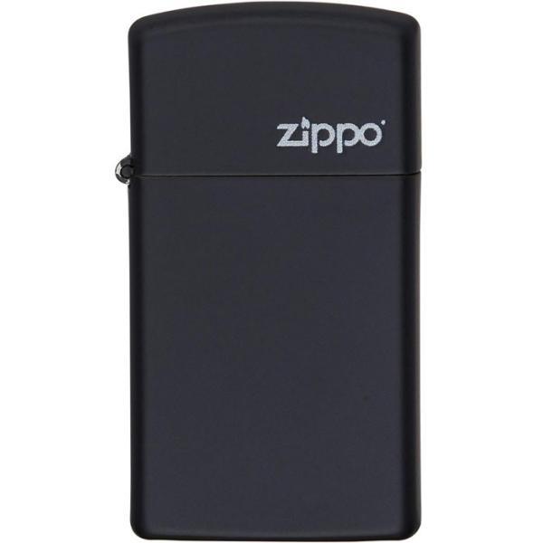 ジッポー ysd#1618ZL ブラックマット スリムタイプ 5面マット仕上げ オイルライター/送料無料
