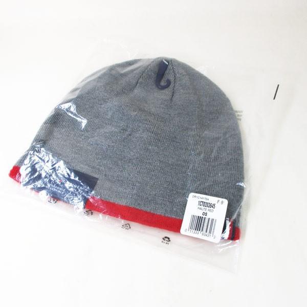 トミーヒルフィガー ニットキャップ ニット帽 グレイ/レッド メンズ レディース 1CT0203-645/送料無料メール便|saponintaiga|03