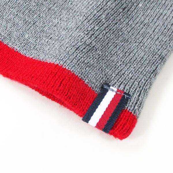 トミーヒルフィガー ニットキャップ ニット帽 グレイ/レッド メンズ レディース 1CT0203-645/送料無料メール便|saponintaiga|04