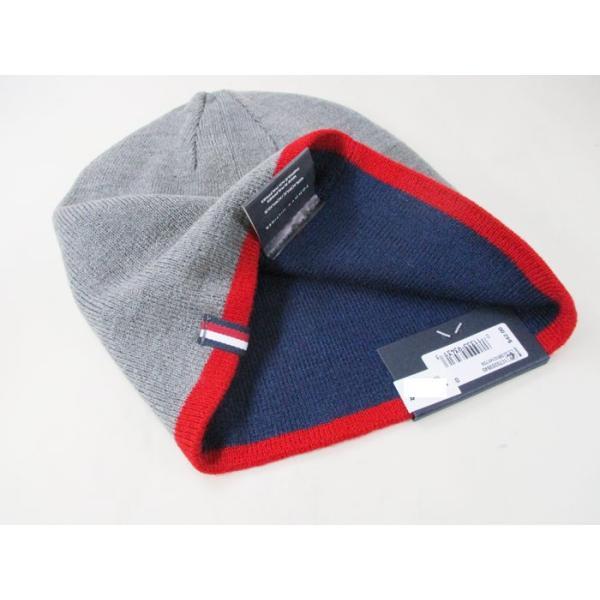 トミーヒルフィガー ニットキャップ ニット帽 グレイ/レッド メンズ レディース 1CT0203-645/送料無料メール便|saponintaiga|05