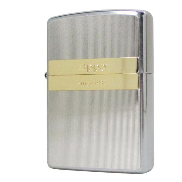 ジッポー オイルライター メタルコンビプレート ダブルライン 200P-GDL/送料無料