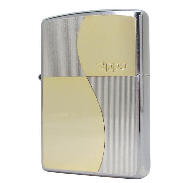 ジッポー オイルライター メタルコンビプレート スクエア2 200P-SQ2&ギフトボックスセット(オイル+フリント+BOX)/送料無料