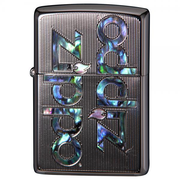 ジッポー オイルライター SHELL INLAY ZIPPO LOGO/プラチナ 両面エッチング 貝貼り 2PTK-LOGO