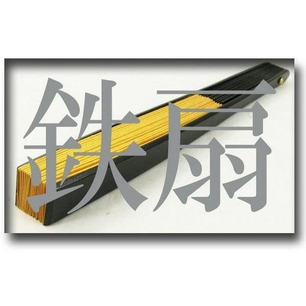 黒鉄扇 八寸 金色 伝統製法 日本製 鍛造/送料無料メール便|saponintaiga|03