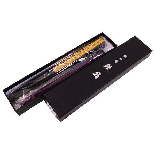 黒鉄扇 八寸 金色 伝統製法 日本製 鍛造/送料無料メール便|saponintaiga|05