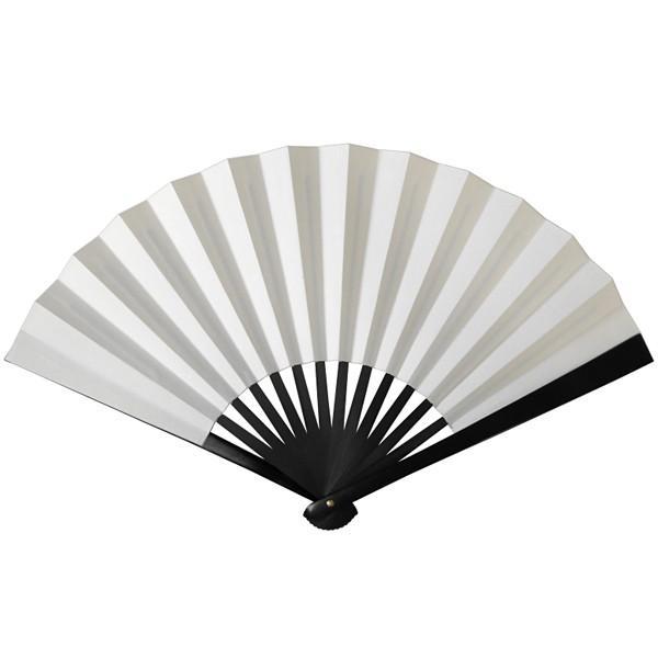 黒鉄扇 八寸 白色 伝統製法 日本製 鍛造/送料無料メール便|saponintaiga
