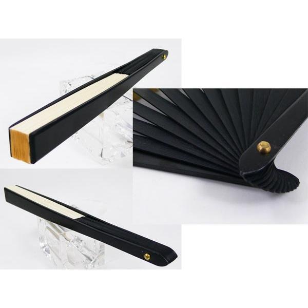 黒鉄扇 八寸 白色 伝統製法 日本製 鍛造/送料無料メール便|saponintaiga|03