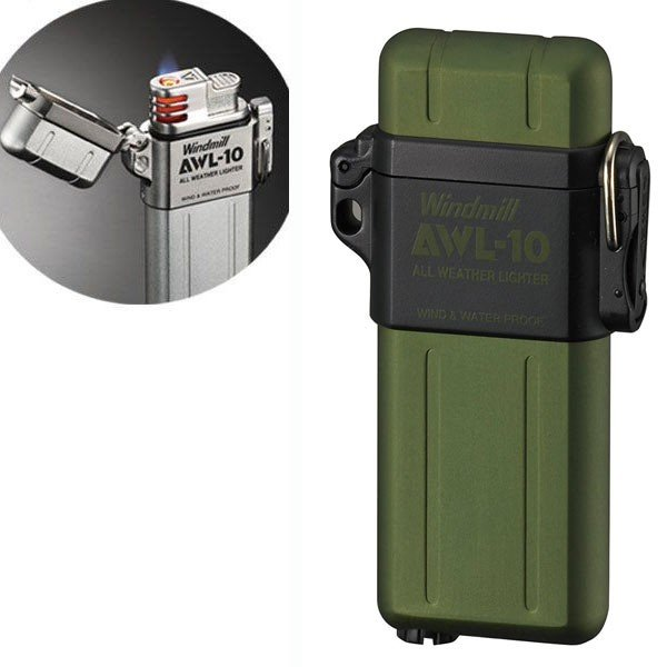 ウインドミル AWL-10 ターボライター グリーン 3070045/送料無料