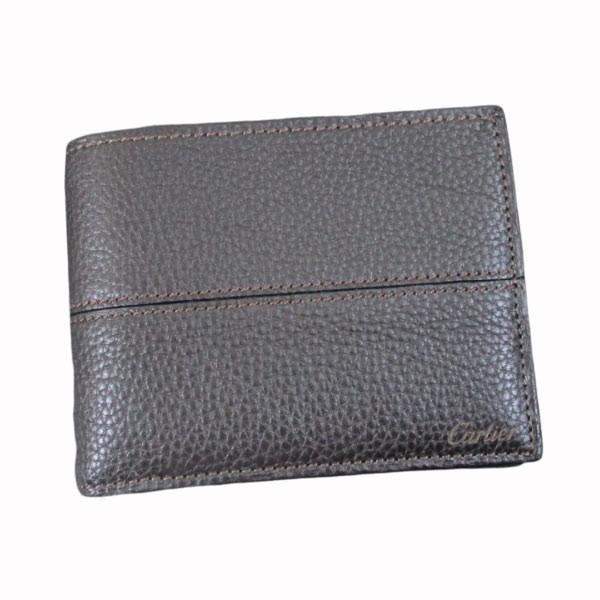 カルティエ 二つ折り財布 メンズ サドルステッチ L3001262 ダークブラウン 男性用 本革 カルチェ Cartier/送料無料|saponintaiga