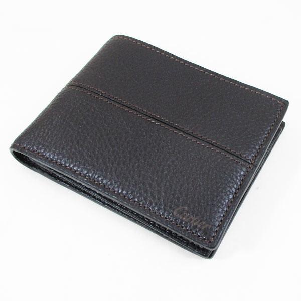 カルティエ 二つ折り財布 メンズ サドルステッチ L3001262 ダークブラウン 男性用 本革 カルチェ Cartier/送料無料|saponintaiga|02