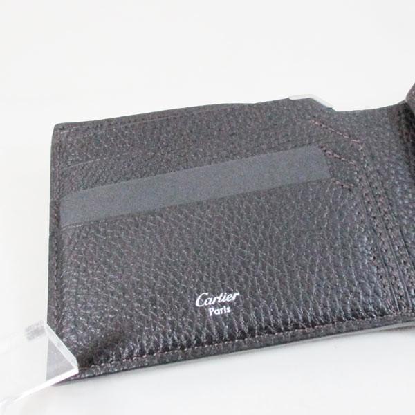 カルティエ 二つ折り財布 メンズ サドルステッチ L3001262 ダークブラウン 男性用 本革 カルチェ Cartier/送料無料|saponintaiga|07
