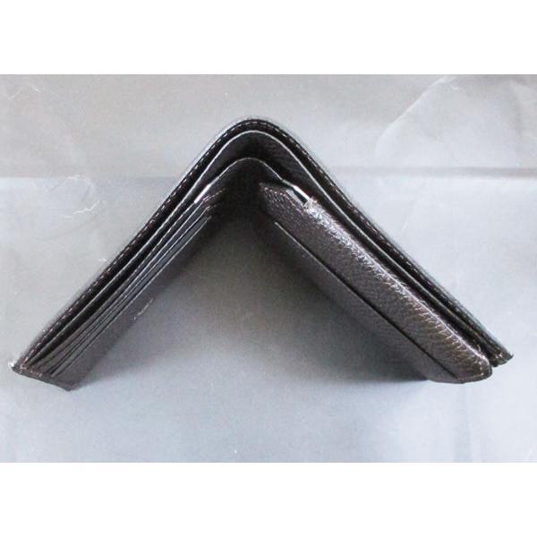 カルティエ 二つ折り財布 メンズ サドルステッチ L3001262 ダークブラウン 男性用 本革 カルチェ Cartier/送料無料|saponintaiga|09
