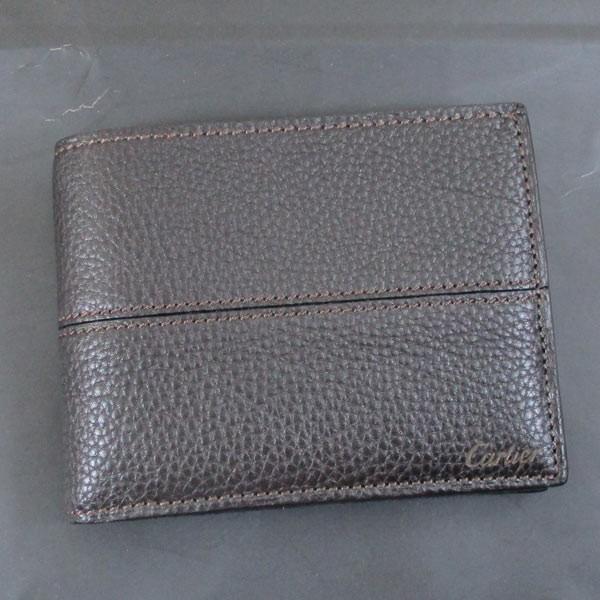 カルティエ 二つ折り財布 メンズ サドルステッチ L3001262 ダークブラウン 男性用 本革 カルチェ Cartier/送料無料|saponintaiga|10