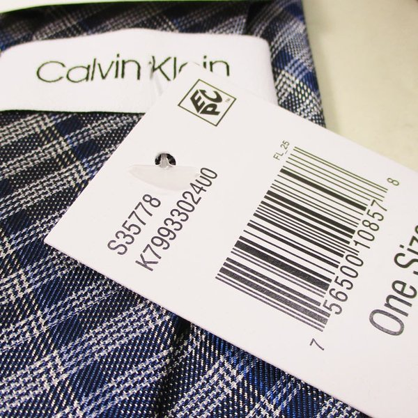 ネクタイ カルバンクライン Calvin Klein シルク系 ネクタイ K7993302400ブルー系/送料無料メール便 ポイント消化|saponintaiga|04