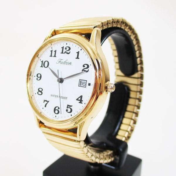 シチズン 腕時計 カレンダー付 蛇腹ベルト 日本製ムーブメント 5気圧防水 ゴールド 紳士/メンズ D014-004/3720/送料無料メール便 saponintaiga 04