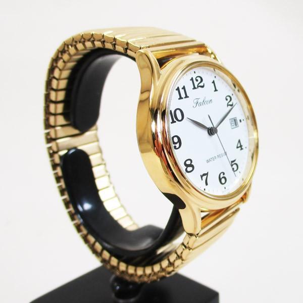 シチズン 腕時計 カレンダー付 蛇腹ベルト 日本製ムーブメント 5気圧防水 ゴールド 紳士/メンズ D014-004/3720/送料無料メール便 saponintaiga 05