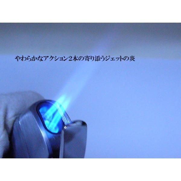 ターボ ツインジェットライター ツインライト ガス注入式 AGAINST DUO-JET 艶消しブラック saponintaiga 06