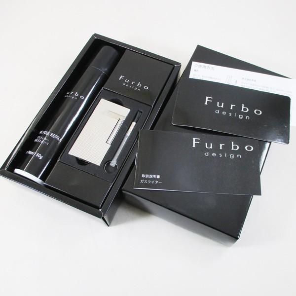 Furboフルボ フリントガスライター ダイアナシルバーサテーナ 格子彫刻 FD100-04 + ガス&フリントギフトセット/送料無料|saponintaiga|03