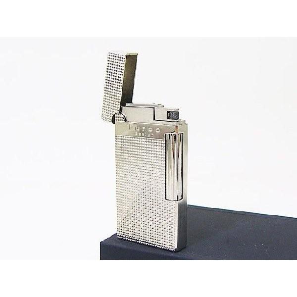 Furboフルボ フリントガスライター ダイアナシルバーサテーナ 格子彫刻 FD100-04 + ガス&フリントギフトセット/送料無料|saponintaiga|04