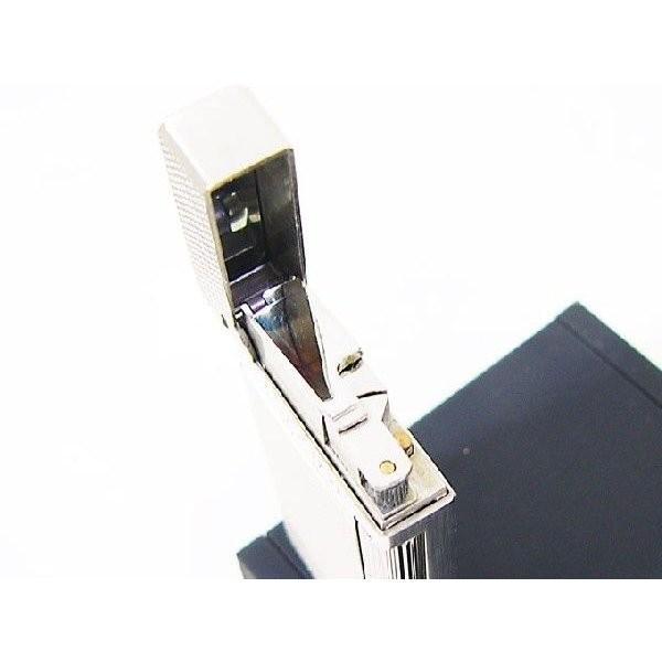 Furboフルボ フリントガスライター ダイアナシルバーサテーナ 格子彫刻 FD100-04 + ガス&フリントギフトセット/送料無料|saponintaiga|05