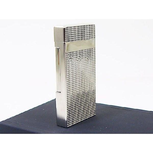 Furboフルボ フリントガスライター ダイアナシルバーサテーナ 格子彫刻 FD100-04 + ガス&フリントギフトセット/送料無料|saponintaiga|06