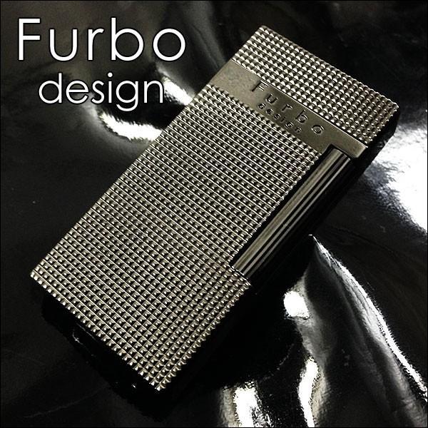Furboフルボ フリントガスライターブラックニッケルサテーナ 格子彫刻 FD100-05 + ガス&フリントギフトセット/送料無料|saponintaiga|02