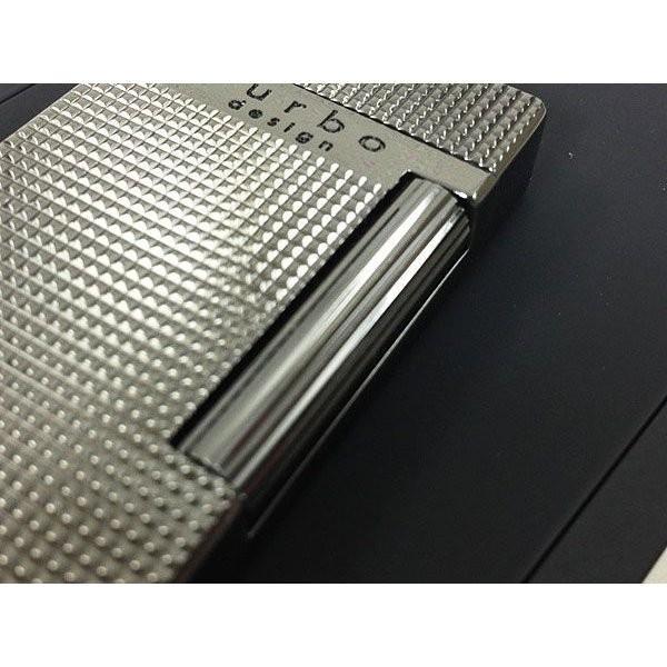 Furboフルボ フリントガスライターブラックニッケルサテーナ 格子彫刻 FD100-05 + ガス&フリントギフトセット/送料無料|saponintaiga|14
