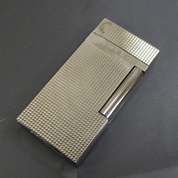 Furboフルボ フリントガスライターブラックニッケルサテーナ 格子彫刻 FD100-05 + ガス&フリントギフトセット/送料無料|saponintaiga|06