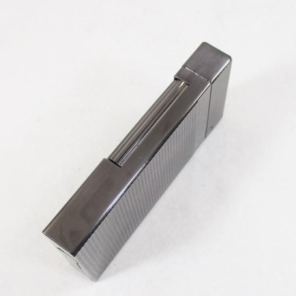 Furboフルボ フリントガスライターブラックニッケルサテーナ 格子彫刻 FD100-05 + ガス&フリントギフトセット/送料無料|saponintaiga|08