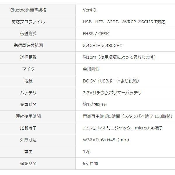 ブルートゥース オーディオレシーバー Bluetooth GH-BHRA-WH ホワイト グリーンハウス 6990/送料無料メール便 箱破棄|saponintaiga|05