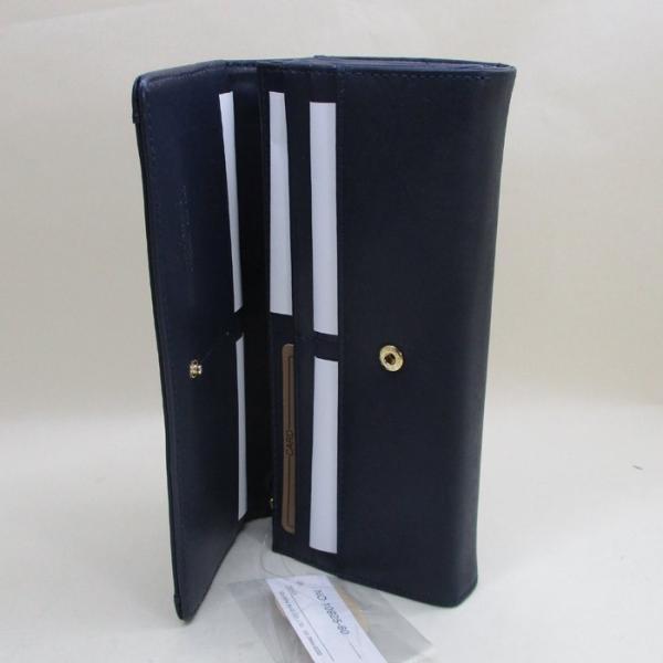 長財布 ホースレザー(馬革)メッシュサイフ 背面ポケット 125653-003 ネイビー/送料無料|saponintaiga|05