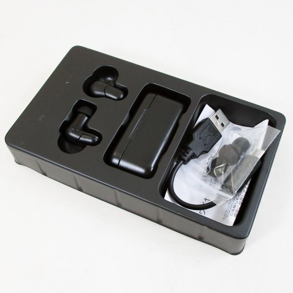ブルートゥース イヤホン ワイヤレスイヤホン  バッテリー内蔵ケース付き HDBT34BK HIDISC iPhone対応 Android対応 1132/送料無料メール便 ポイント消化|saponintaiga|05