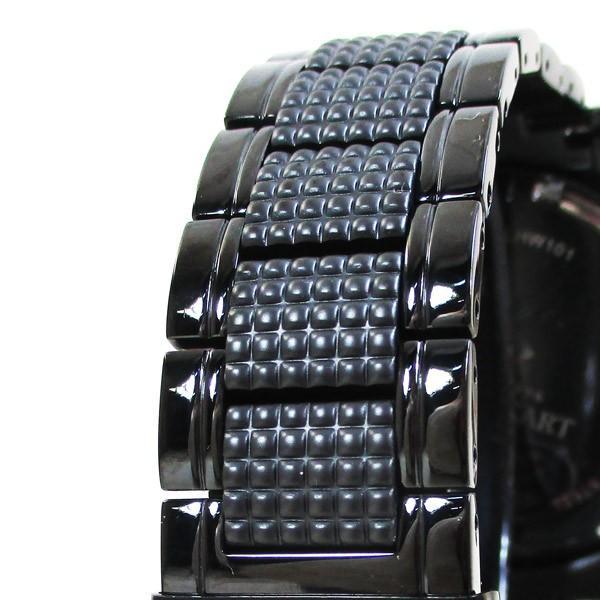 ライオンハート メンズ 紳士腕時計 黒文字盤 メタルバンド LHW101BBG/5850/送料無料|saponintaiga|10