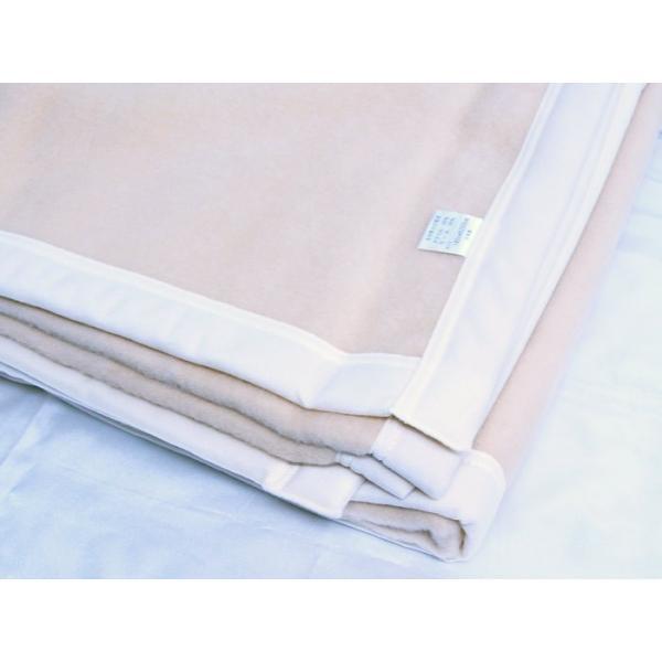 日本製 毛布 ベージュ 140x200cm ウール&アクリル|saponintaiga|02