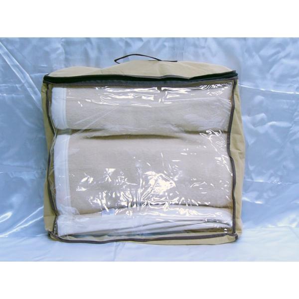 日本製 毛布 ベージュ 140x200cm ウール&アクリル|saponintaiga|03