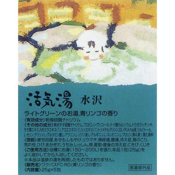 薬用入浴剤「活気湯」日本の有名温泉 6箇所x1箱 送料無料メール便 箱破棄 ポイント消化|saponintaiga|12