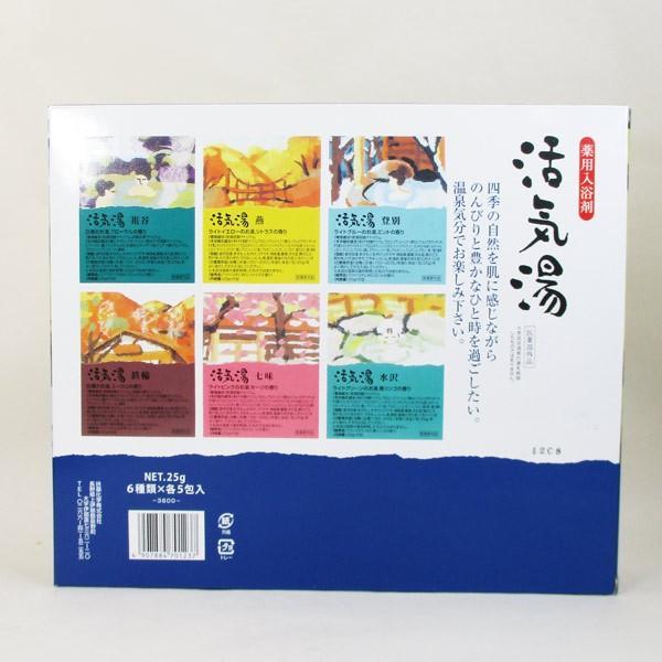 薬用入浴剤「活気湯」日本の有名温泉 6箇所x1箱 送料無料メール便 箱破棄 ポイント消化|saponintaiga|04