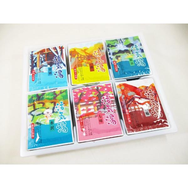 薬用入浴剤「活気湯」日本の有名温泉 6箇所x1箱 送料無料メール便 箱破棄 ポイント消化|saponintaiga|05