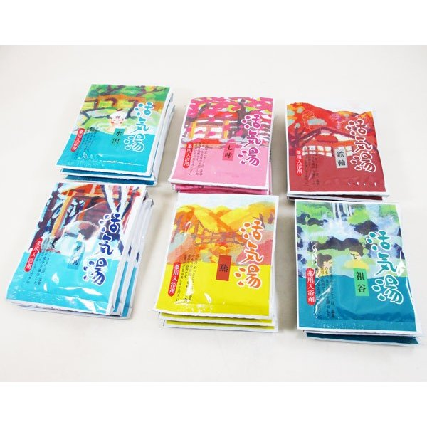 薬用入浴剤「活気湯」日本の有名温泉 6箇所x1箱 送料無料メール便 箱破棄 ポイント消化|saponintaiga|06