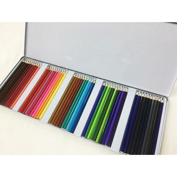 缶ケース入り 色鉛筆50色セットx3個セット/卸/|saponintaiga|02